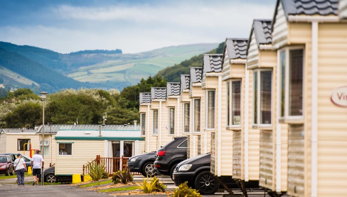 landscape photo of caravans  for sale in west wales