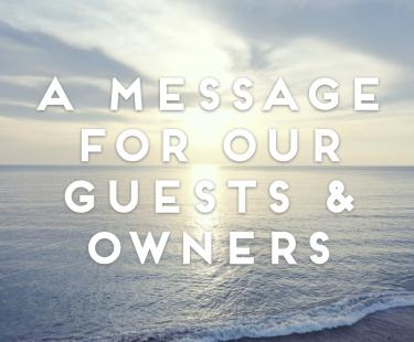A message for guests and owners of Clarach Bay