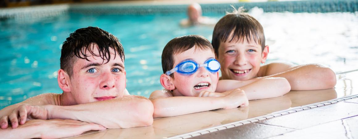 Our indoor heated pool keeps children entertained on rainy days